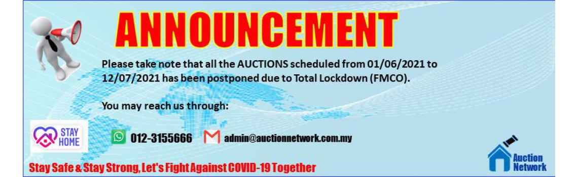 FMCO Auctions Postponed